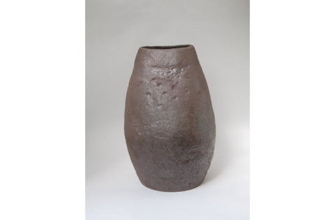 Large Iron Glazed Ceramic Vase