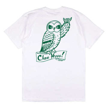 Cheehuuu Tee - White/Dark Green