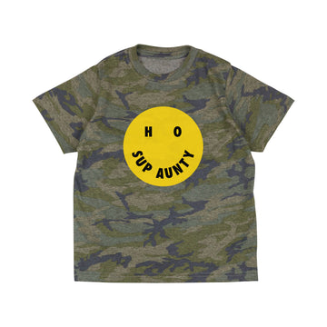 HO SUP AUNTY Toddler Tee - Camo