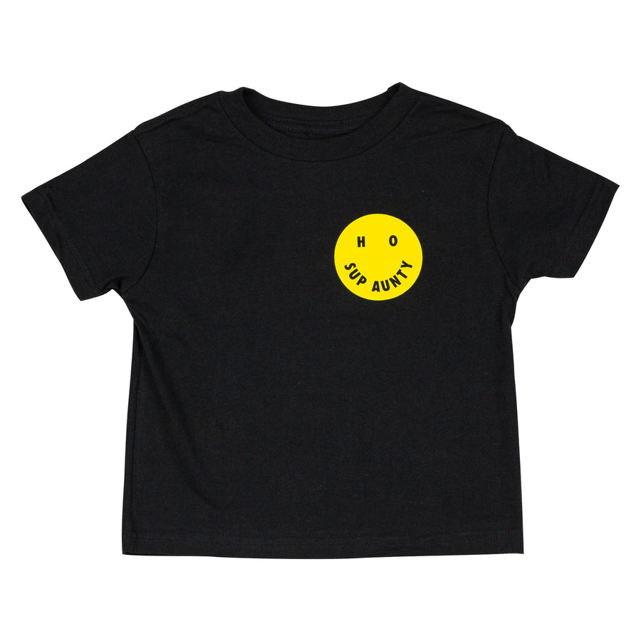HO SUP AUNTY Kids Tee - Black