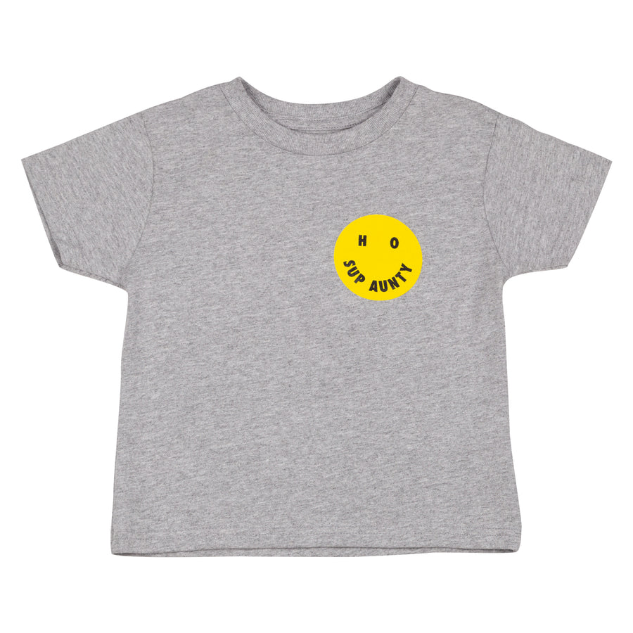 HO SUP AUNTY Kids Tee - Heather Gray