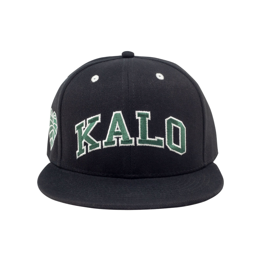 Kalo Snapback - Black / Manoa Green / White