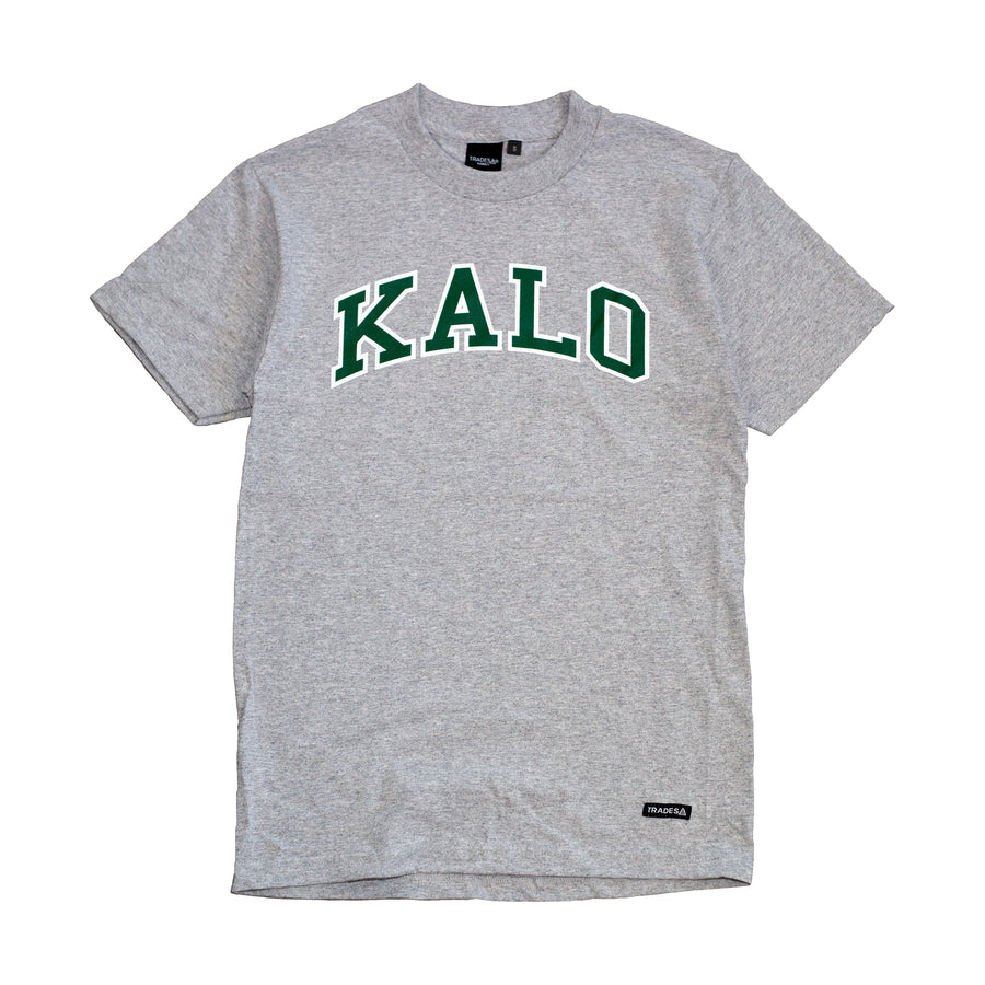 Kalo Tee - Heather Gray / Green / White
