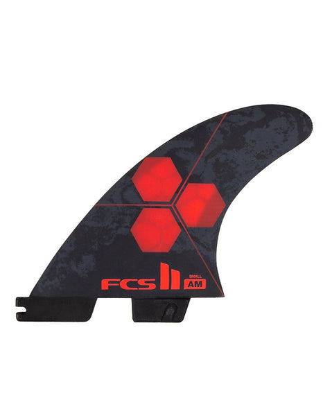 FCS II AM PC Small Red Tri Retail Fins side view