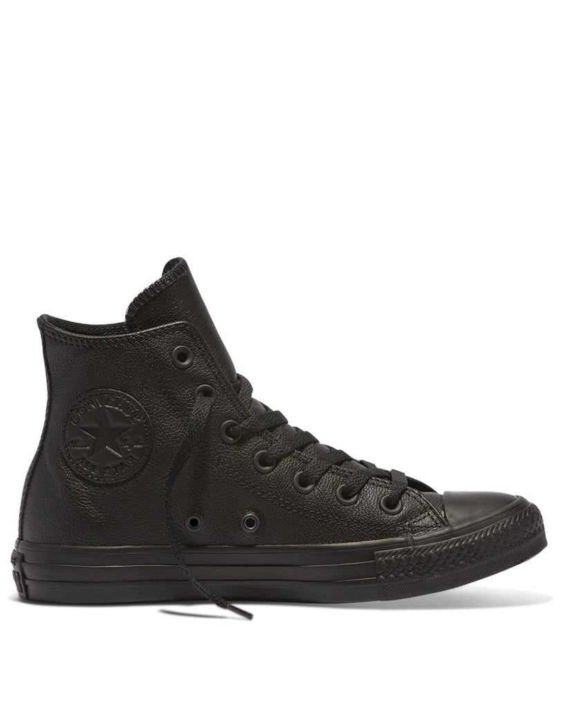 Chuck Taylor All Star Leather Hi Top Shoes - Black Mono