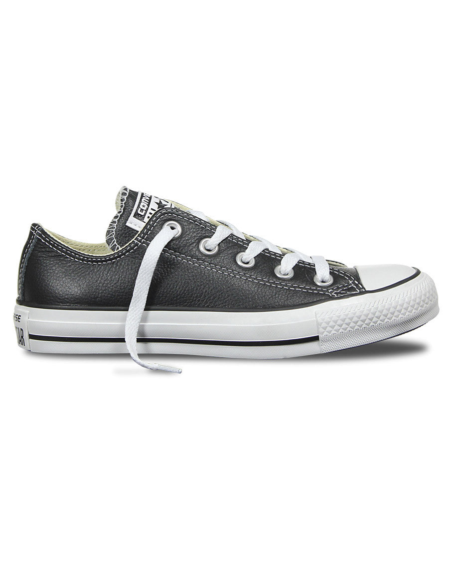 acebcabffe8c Chuck Taylor All Star Leather Low Top Shoes - Black - Natural Necessity ...