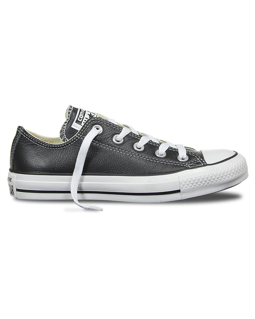 Chuck Taylor All Star Leather Low Top Shoes - Black - Natural Necessity