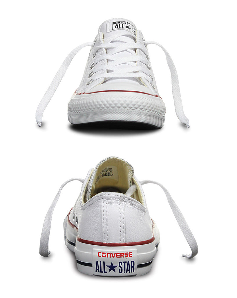 Chuck Taylor All Star Leather Low Top Shoes - White - Natural Necessity