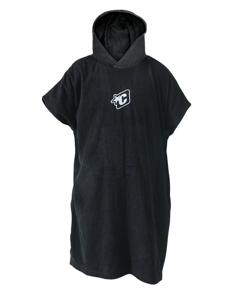 Poncho Towel - Black - Natural Necessity