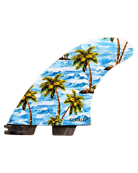 FCS II x Gorilla Sloth Palm Trend Shank Five Fin Set - Large