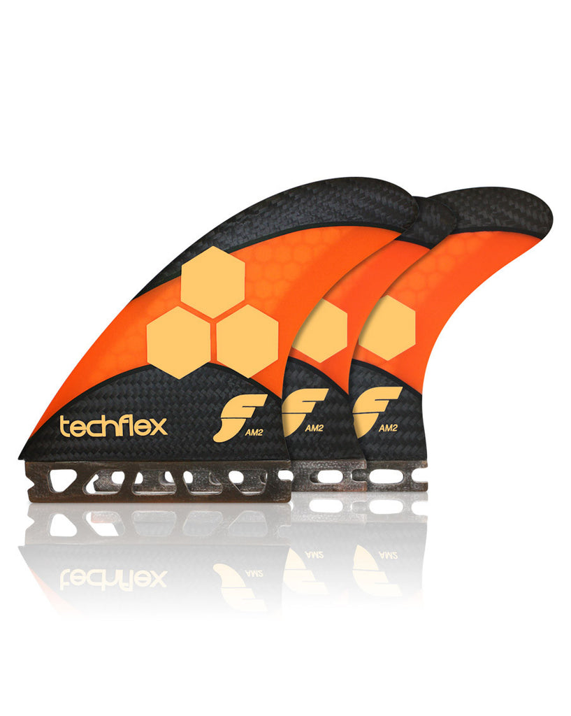 AM2 Techflex Orange Five Fin Set - Natural Necessity