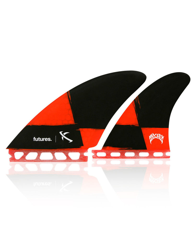 Lost Seaworthy Honeycomb Red/Black Quad Fin Set - Natural Necessity