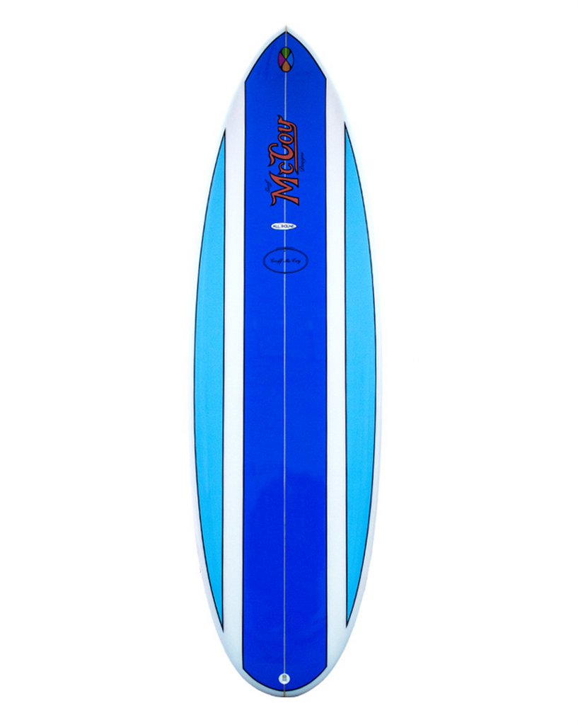 All Round Nugget XF Surfboard / Clear Blue Polish / 6'8 / FCS II