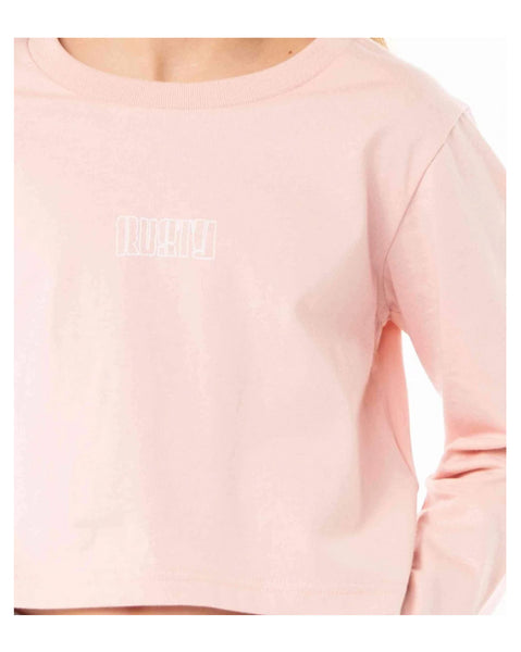 Worldwide Long Sleeve Crop Tee Girls