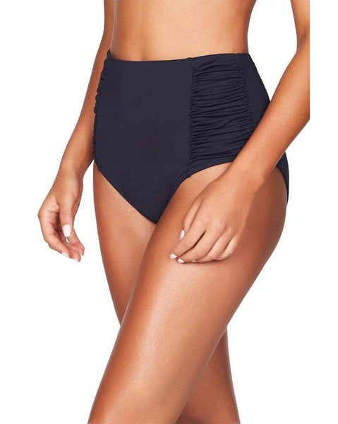 Essentials High Waist Gathered Side Bikini Pant