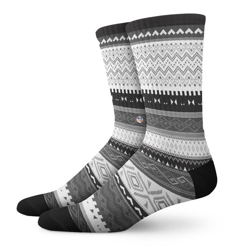 DYNAMIC-ELECT™, A Tribe Called Aztec - OfficialDraper.com - Mens Socks & Womens Socks - Casual Socks, Performance Socks, Athletic Socks, 90's Clothing, Men's Socks, Women's Socks, Cool Socks, Funky Socks