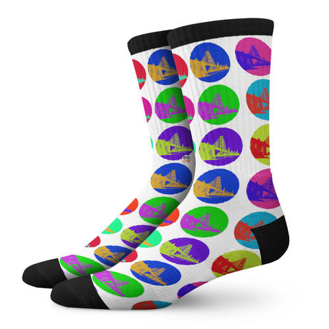 Ladies Socks, Bay Area - OfficialDraper.com - Mens Socks & Womens Socks - Casual Socks, Performance Socks, Athletic Socks, 90's Clothing, Men's Socks, Women's Socks, Cool Socks, Funky Socks