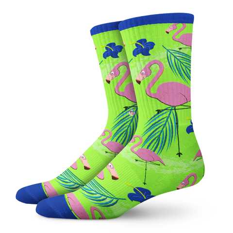 Ladies Socks, Flamingo - OfficialDraper.com - Mens Socks & Womens Socks - Casual Socks, Performance Socks, Athletic Socks, 90's Clothing, Men's Socks, Women's Socks, Cool Socks, Funky Socks