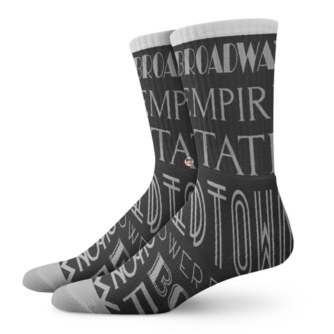 Gentlemens Socks, Empire State - OfficialDraper.com - Mens Socks & Womens Socks - Casual Socks, Performance Socks, Athletic Socks, 90's Clothing, Men's Socks, Women's Socks, Cool Socks, Funky Socks