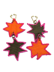 Double Stars Patch Earrings