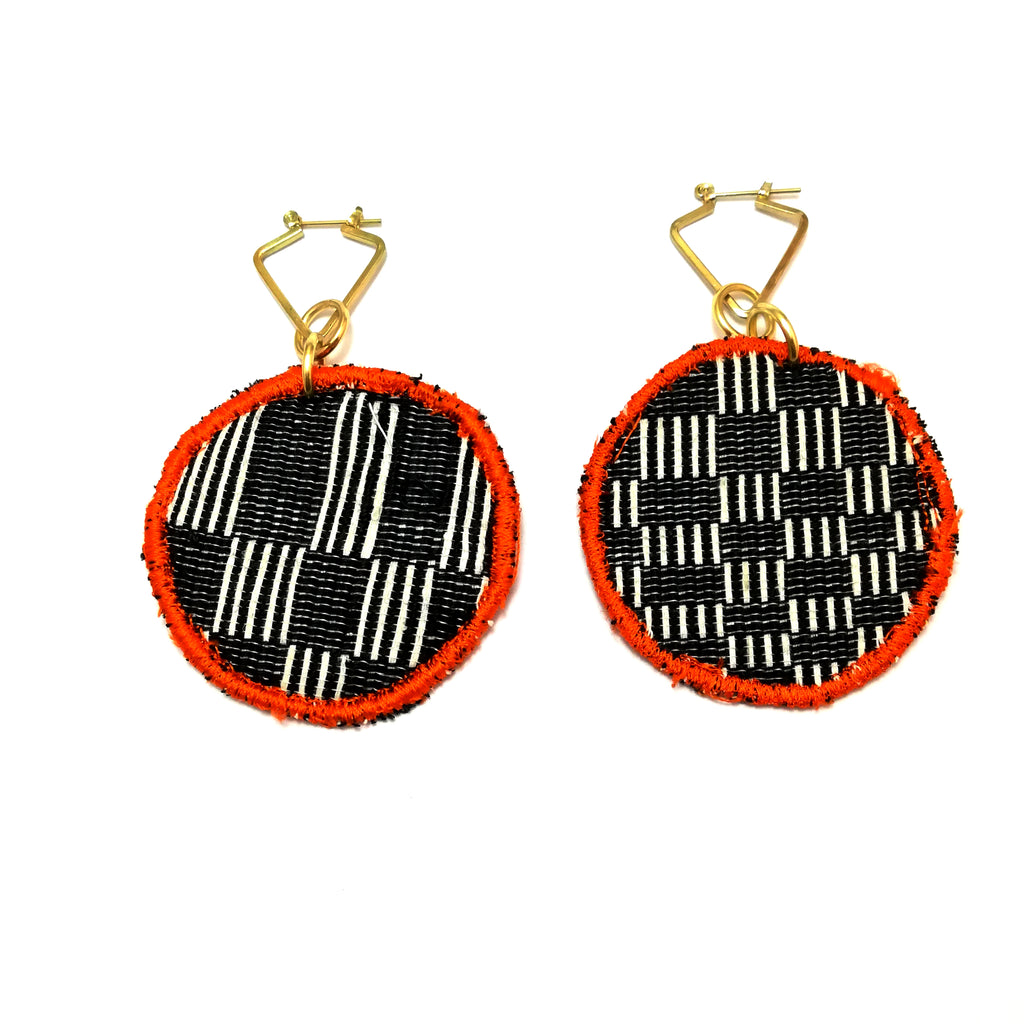 Circle Patch Earrings