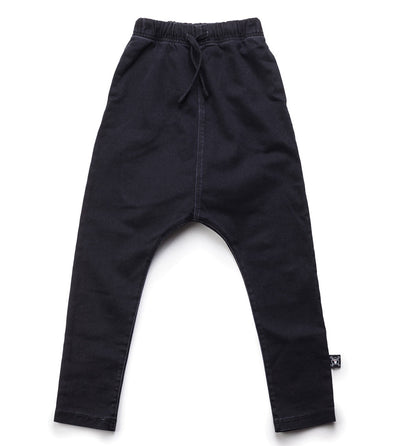 Denim Baggy Pants Dyed Black