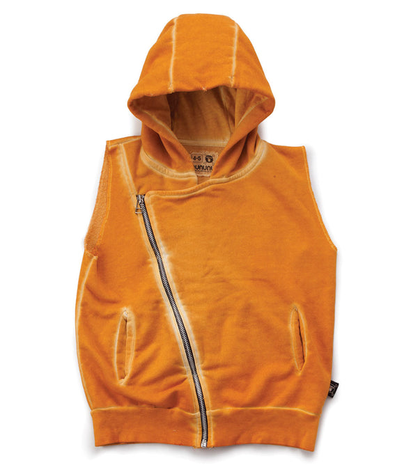 Diagonal Hooded Vest