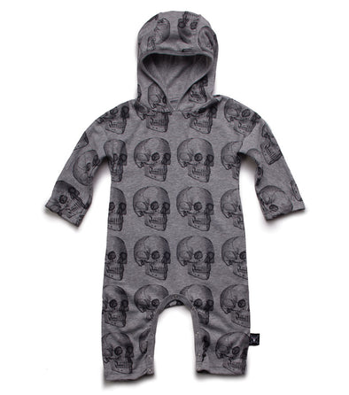Skull Hooded Playsuit