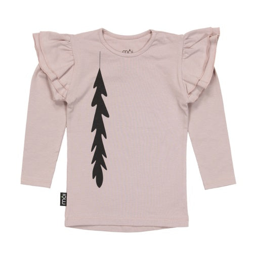 Blush Feathers Girly Long Tee