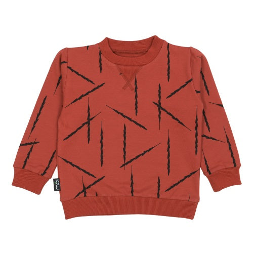Red Feathers OV Sweater