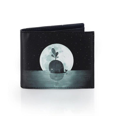 Print Wallet: Whale Moon