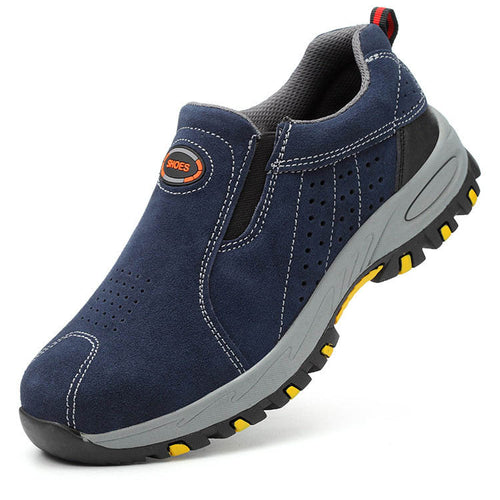 Breathable Wear-resistant Anti-splash Hot Welding Work Safety Shoes - KINGEOUS