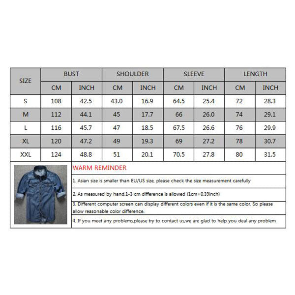 Fashion Loose Long Sleeve Denim Men's Shirts