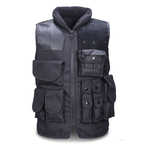 Outdoor Black Tactical Vest Security CS Field Protective Vest