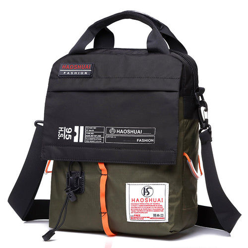 Casual Waterproof Canvas Men's Crossbody Bag