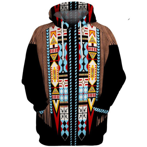 Traditional Indians Vivid 3D Digital Printed Hooded Couple Hoodie