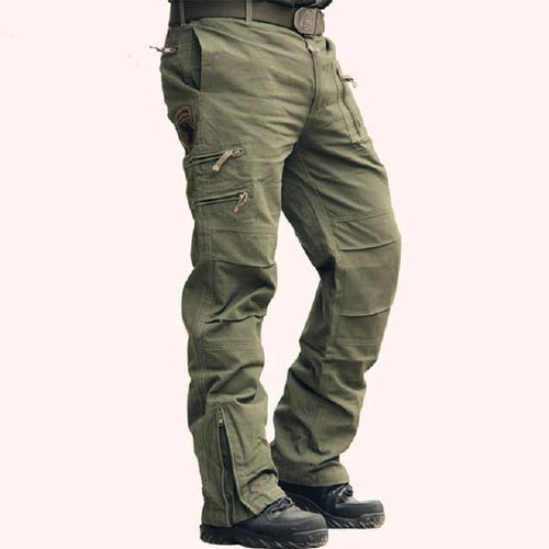 Military Style Casual Wear Multi-Pocket Men Pants