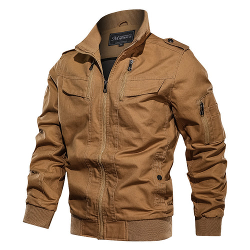 Fashion Cotton Wash Flight Men's Jacket