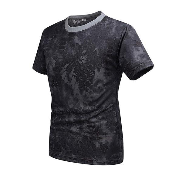 Special Forces Camo Round Neck Short-sleeved Quick-drying Men's T-shirt