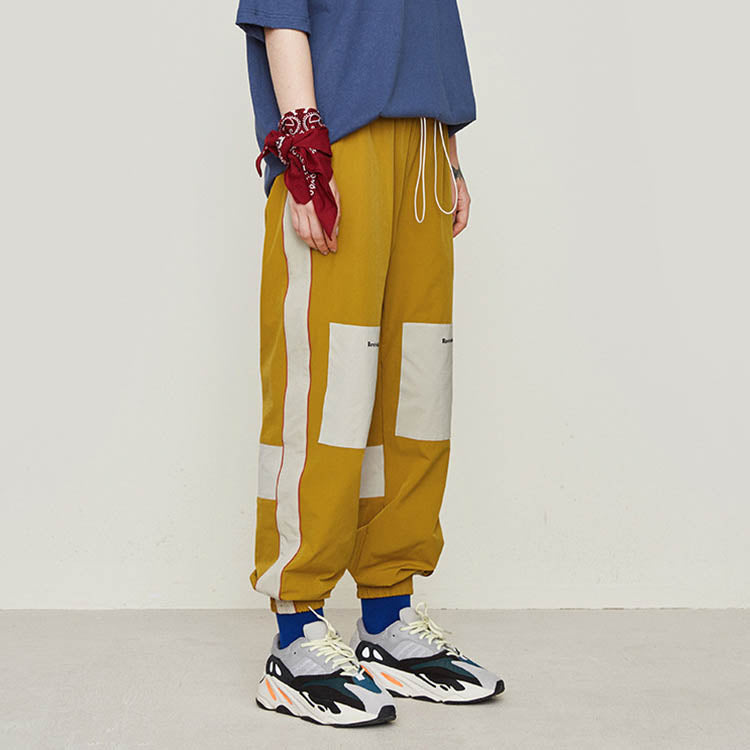 Side Stripe Contrast Stitching Design Men's Pants