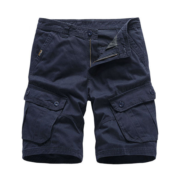 Tactical Multi-pocket Loose Solid Color Men's  Shorts
