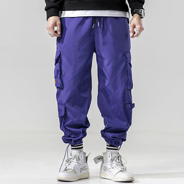 Letter Print Plus Pocket Ankle Banded Men's Pants