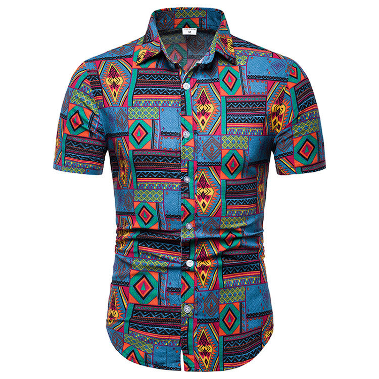 Classical Printed Holiday Men Shirt - KINGEOUS
