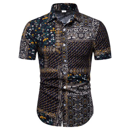 Luxury Printed Holiday Men Shirt