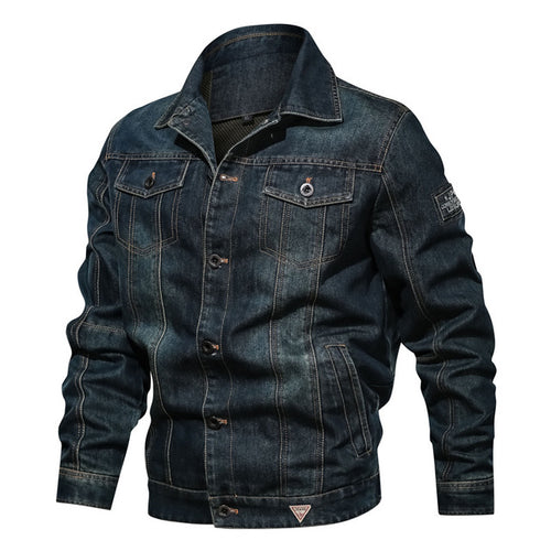 Casual Pocket Denim Men's Jacket - KINGEOUS