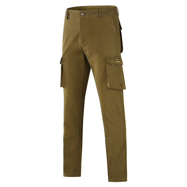 Straight Side 3-dimensional Multi-pocket Men's Pants