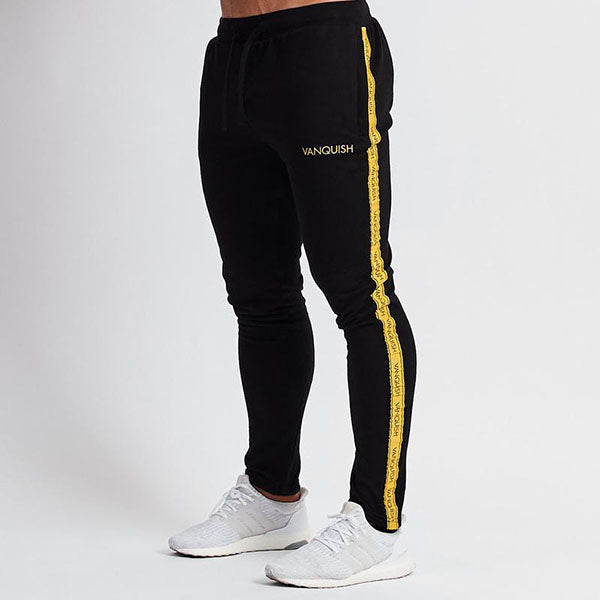 Contrast Design Sport Fitness Elastic Waist Men's Pants - KINGEOUS