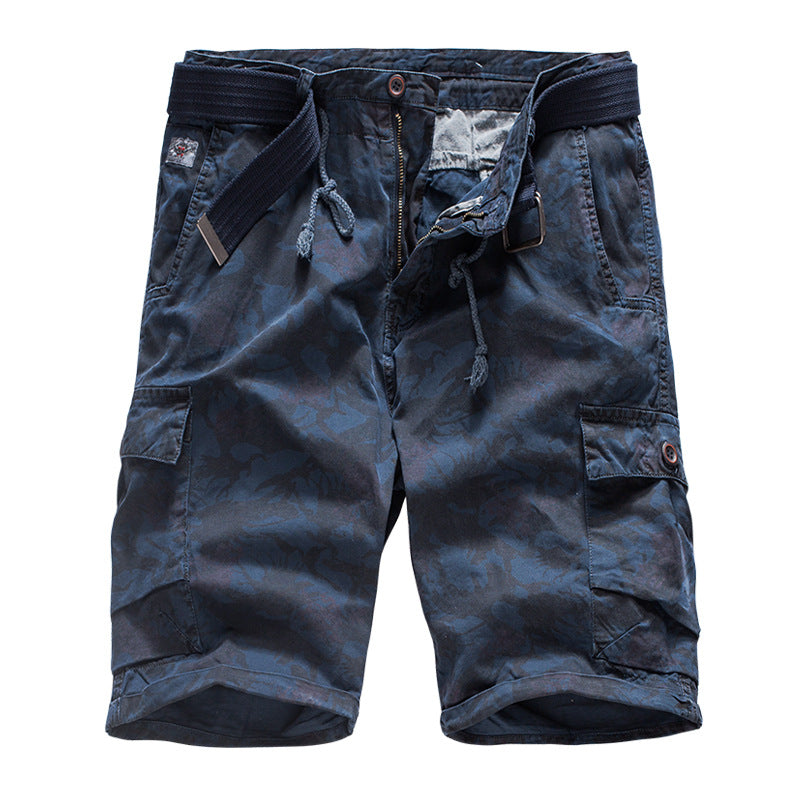 Casual Cotton Printing Camo Men's Cargo Shorts - KINGEOUS