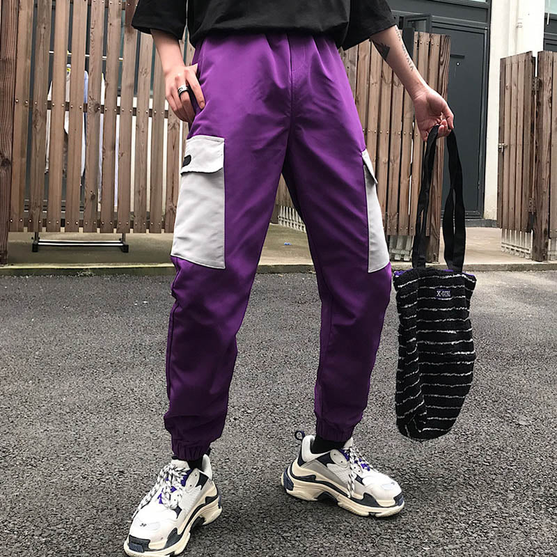 Casual Harajuku Style Plus Pocket Women's Cargo Pants - KINGEOUS