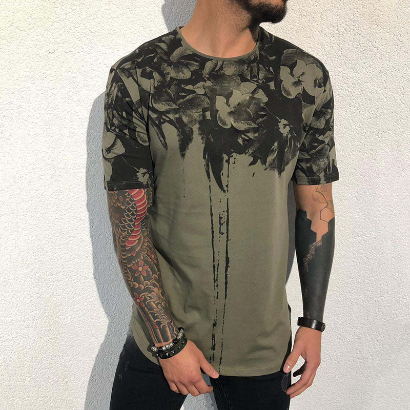 American Style 3D Printing Design Short-sleeve Men's T-shirt - KINGEOUS